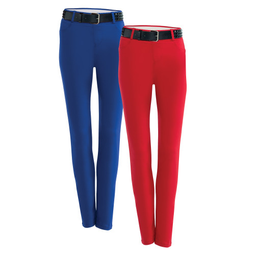 Stretch Denim Leggings | Royal & Red