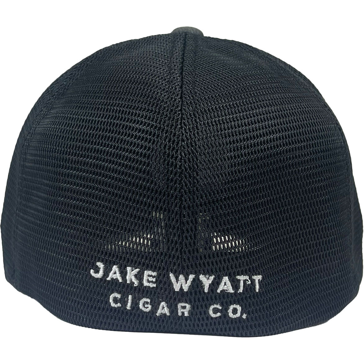 Jake Wyatt Cigar Co. - Black and Grey Round Logo Fitted Hat