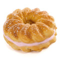 Café De N Brown French Cruller Strawberry Super Soft Squishy Cellphone Charms ( 45 Degree Angle )