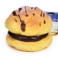 Café De N Chocolate Cream Puff Dessert Squishy Toy Cellphone Charms ( 45 Degree Angle )