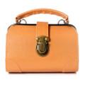 Seto Craft Motif Mini Doctor Bag Shape Pouch / Cosmetic Bag - Camel Color ( Front View )