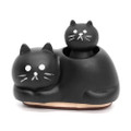Decole Brand Kawaii Cat 2 in 1 Style Decorative Polyresin Stamps - Parent and Child ( Front View )