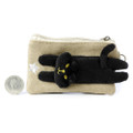 Decole Miranda Black Cat Coins And Smart Card Pouch With Purse Strap ( Front View )