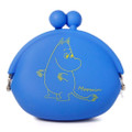 Moomin Valley Moomintroll Blue Silicone Ball Clasp Frame Coins Wallet ( Front View )