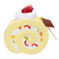Café De N Scented Fruit Chiffon Roll Cake Squishy Toys Charms ( Front View )