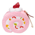 Café De N Scented Strawberry Roll Cake Squishy Toys Charms ( Front View )