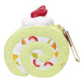 Café De N Scented Matcha Green Tea Roll Cake Squishy Toys Charms ( Front View )