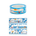 Moomin Family Blue Deco Tape - Sea ( Cover View )