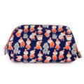 Moomin Trapezoid Canvas Makeup Bag - Navy Blue ( Front View )