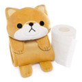 Meiho Shiba Inu Dog Toilet Roll Holder Plush Cover ( Cover ) -Not include the toilet roll