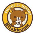 San-x Rilakkuma Circle Chocolate Coffee Cup Coaster - KY00901 ( Front View )