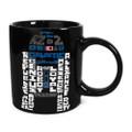 Star Wars R2-D2 Typography Black Ceramic Mug ( Front View )