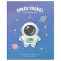 Kawaii Blue Color Astronaut In Space Iron On Patch ( Cover )