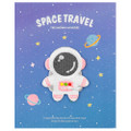 Kawaii Pink Color Astronaut In Space Iron On Patch ( Cover )