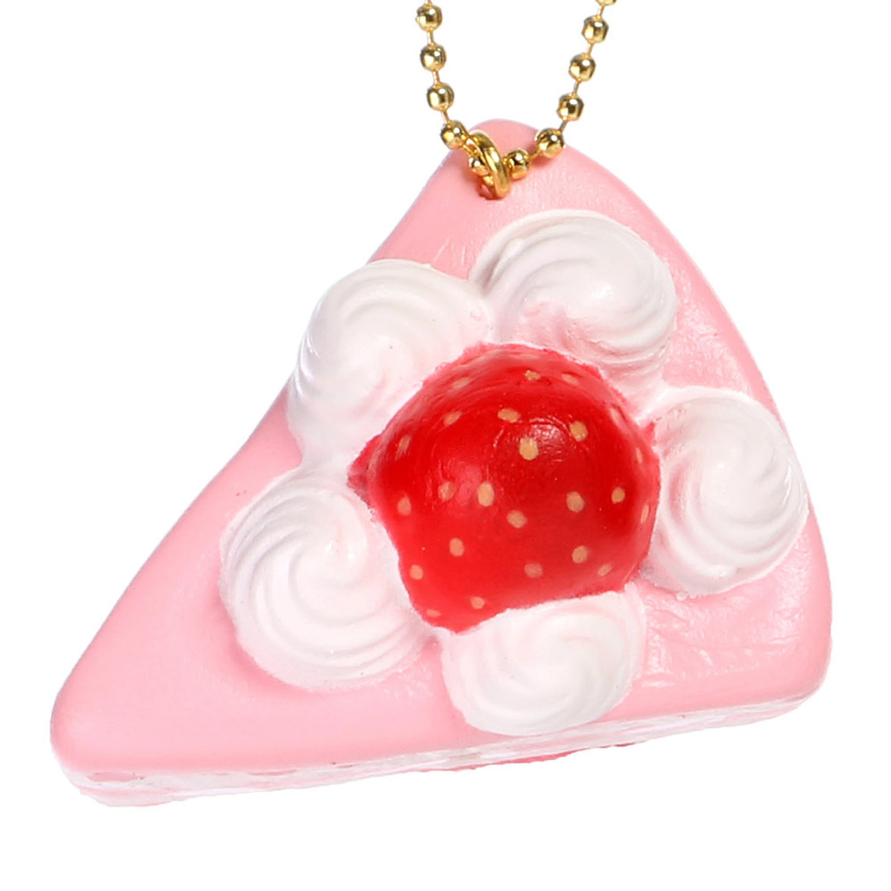 Café De N Soft Squishy Cellphone Charms - Strawberry Fruit Pulp with Cream Shortcake ( Front View )