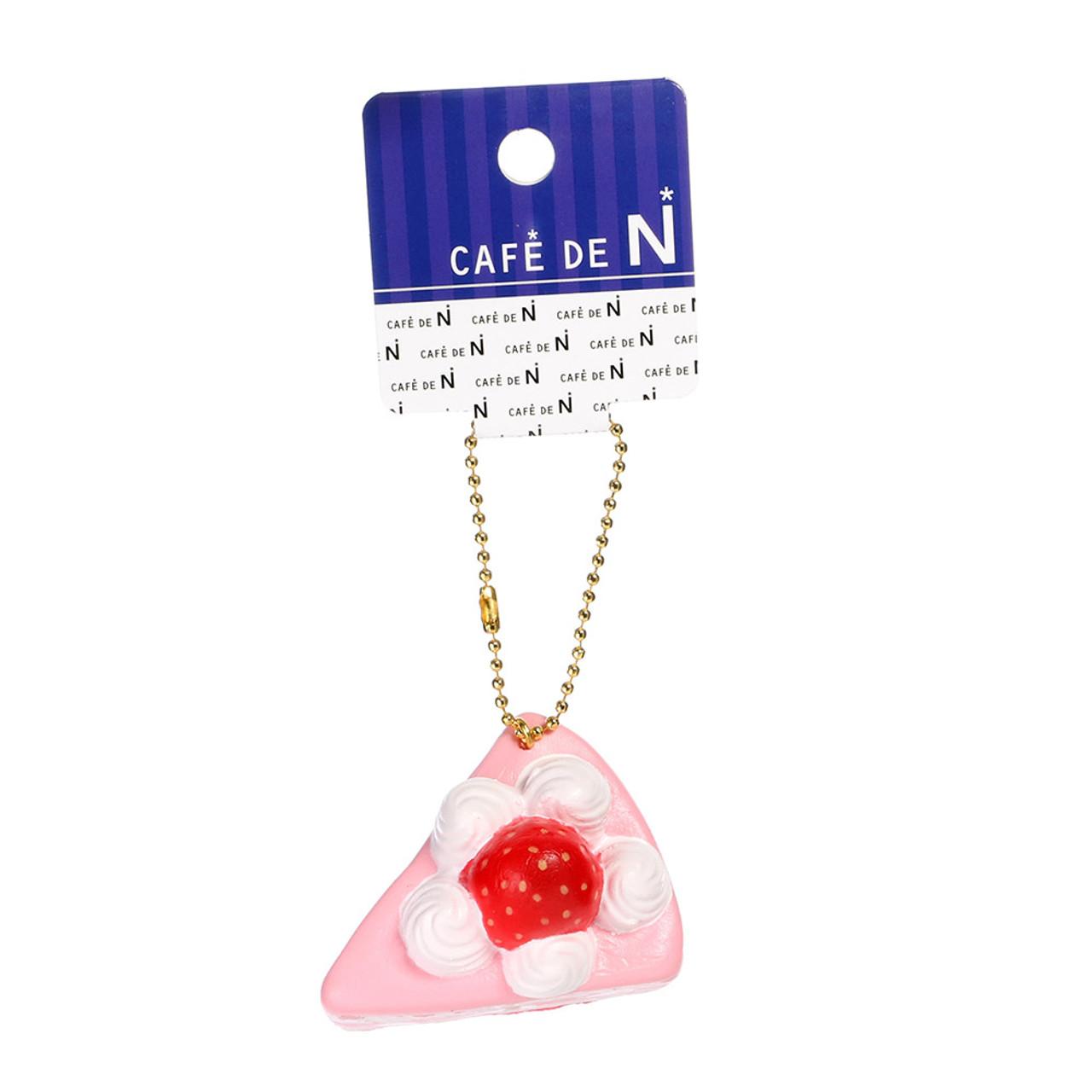 Café De N Soft Squishy Cellphone Charms - Strawberry Fruit Pulp with Cream Shortcake ( Tag View )