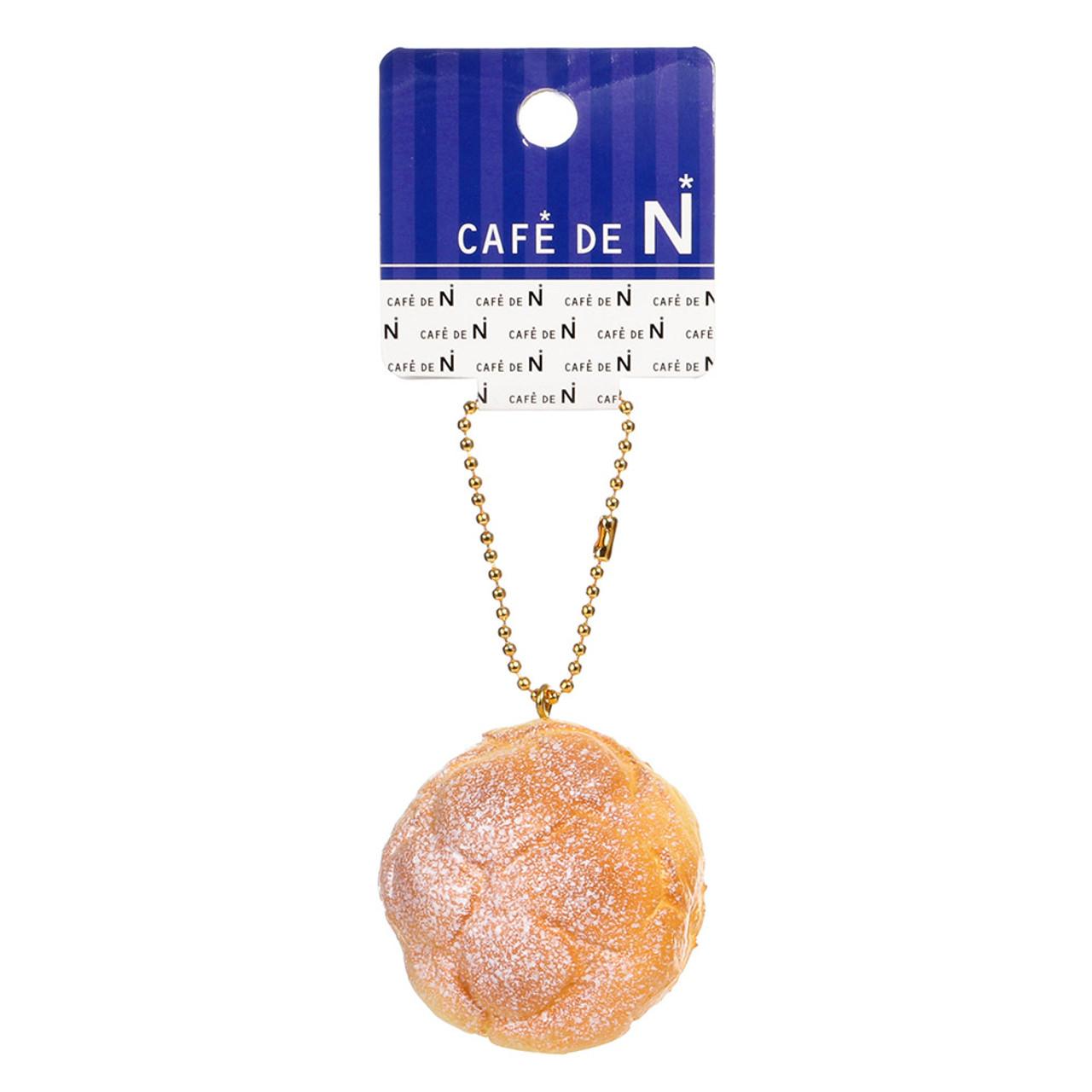 Café De N Custard Cream Puff Dessert Squishy Toy Cellphone Charm ( Tag View )