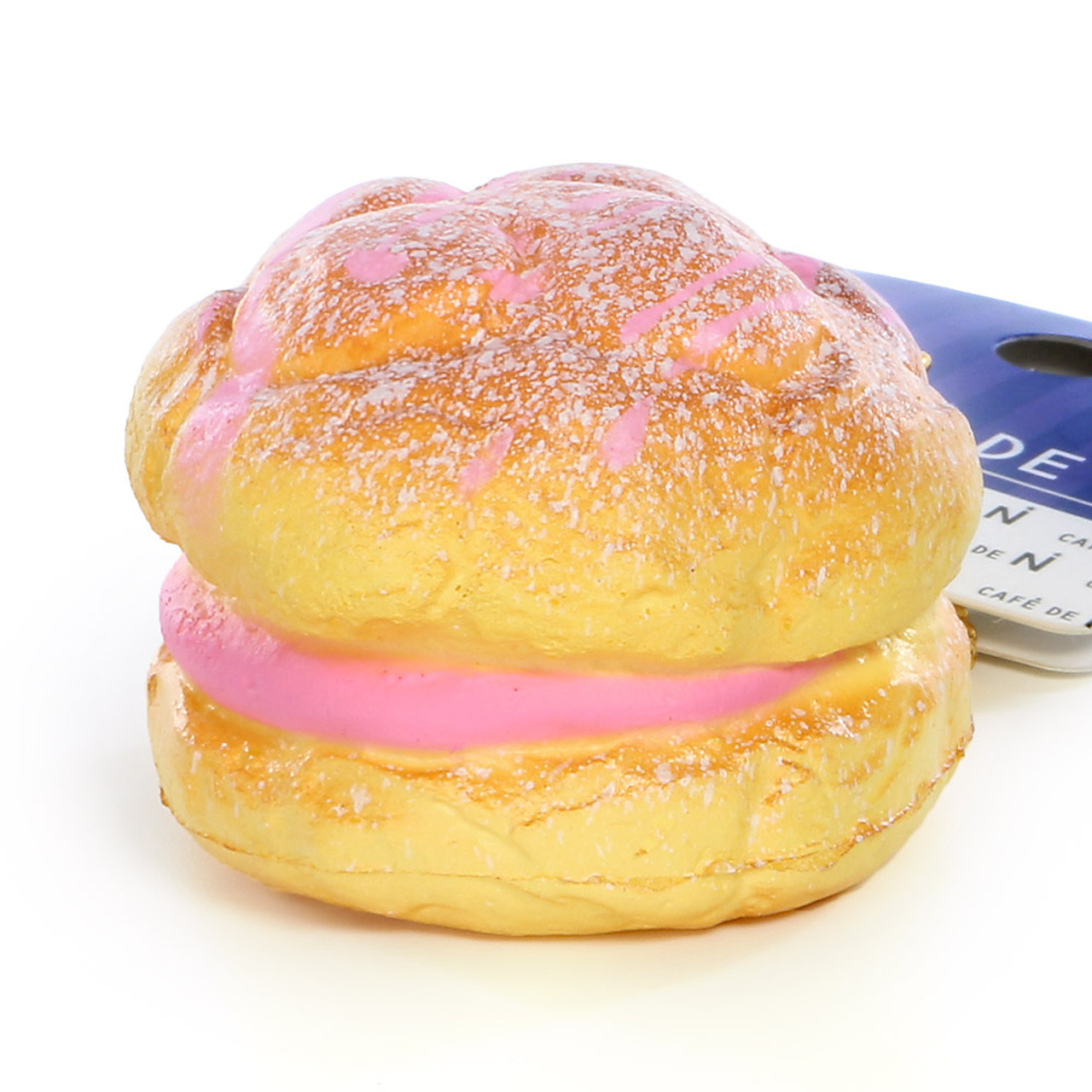 Café De N Strawberry Cream Puff Dessert Squishy Toy Cellphone Charms ( 45 Degree Angle )