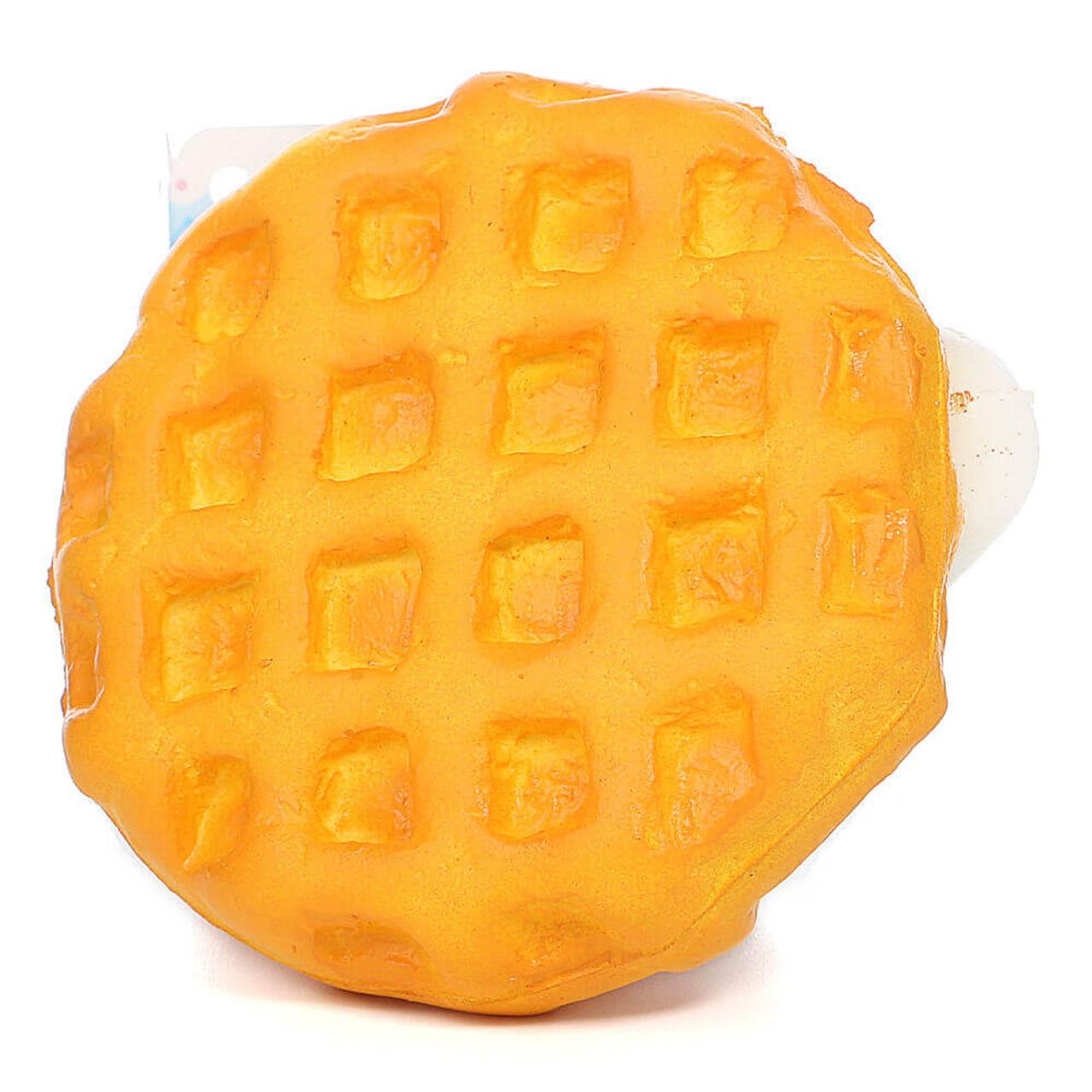 Sanrio Cinnamoroll Kawaii Mascot Waffle Cream Dessert Soft Squishy Charms ( Bottom View )