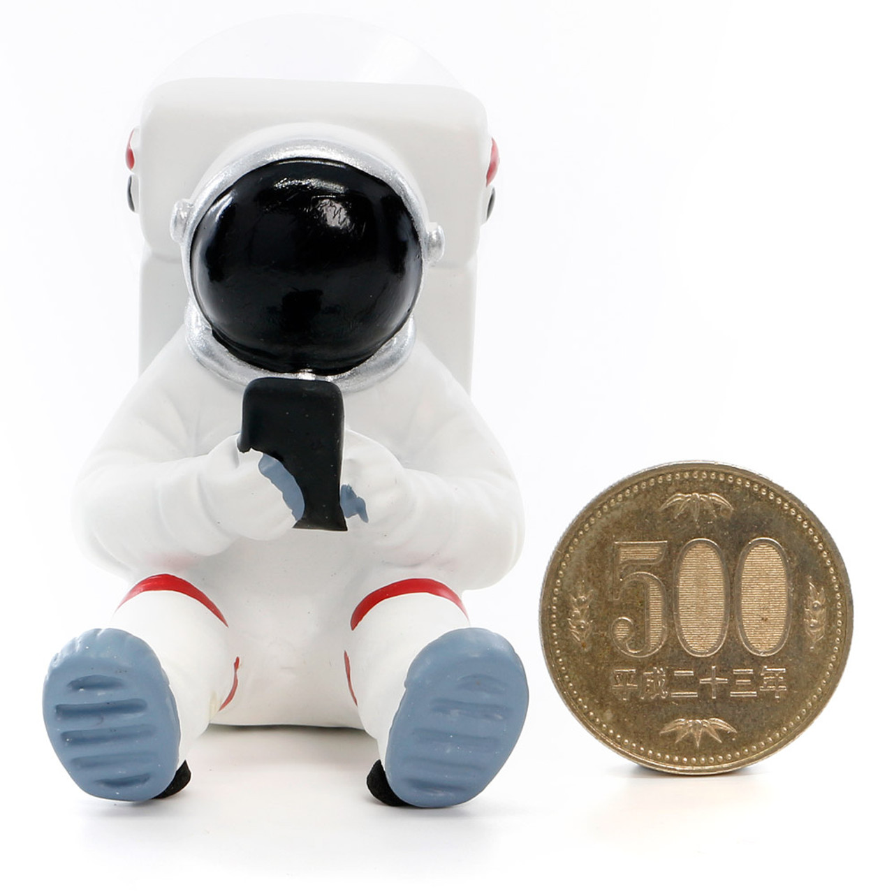 Seto Craft Motif Hand Painting Cellphone / Mobile Device Stand - Astronaut or Spaceman ( Proportion )