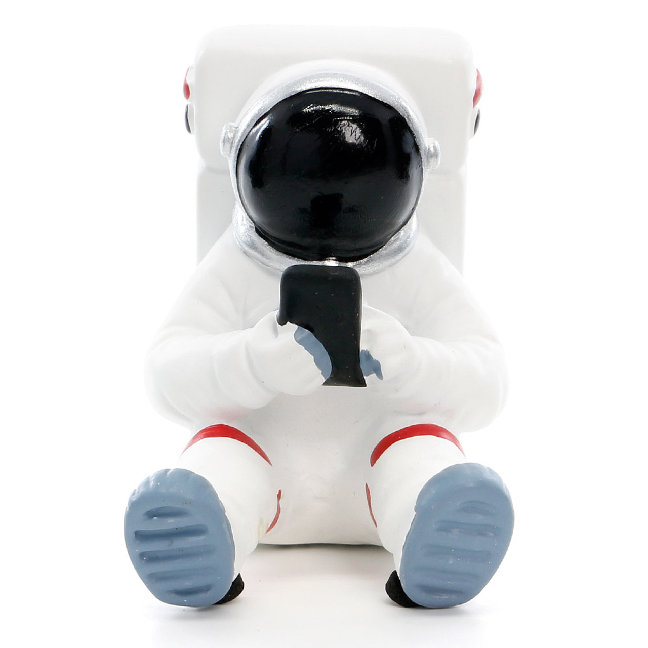 Seto Craft Motif Hand Painting Cellphone / Mobile Device Stand - Astronaut or Spaceman ( Front View )