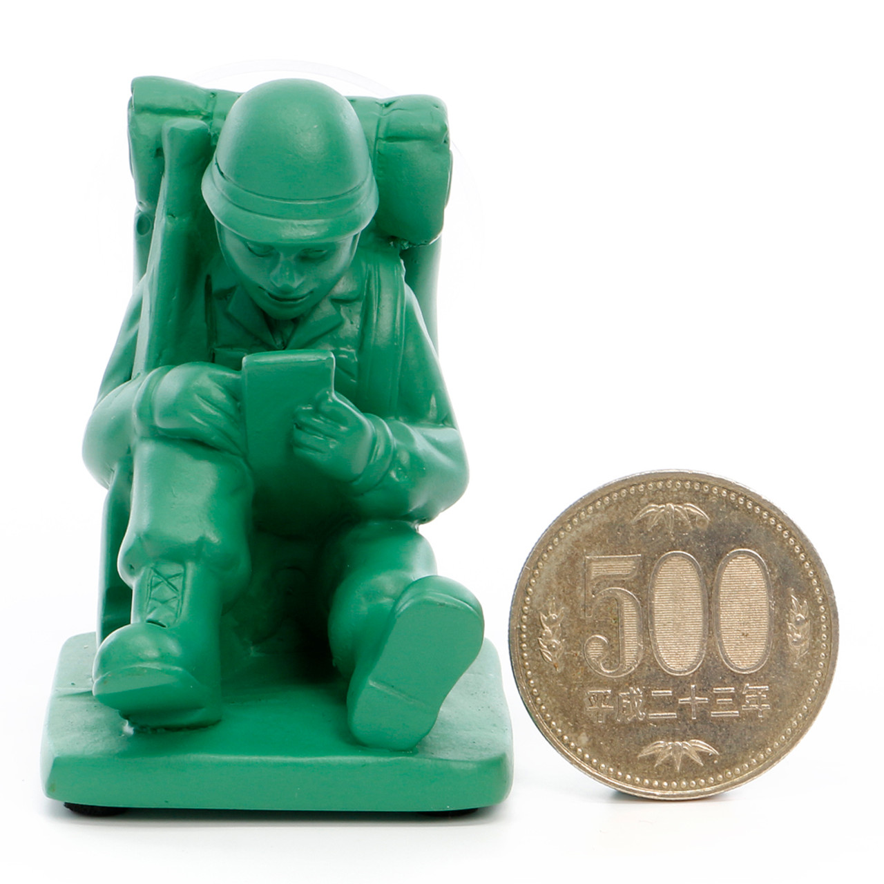 Seto Craft Motif Hand Painting Cellphone / Mobile Device Stand - Mini Soldier ( Proportion )