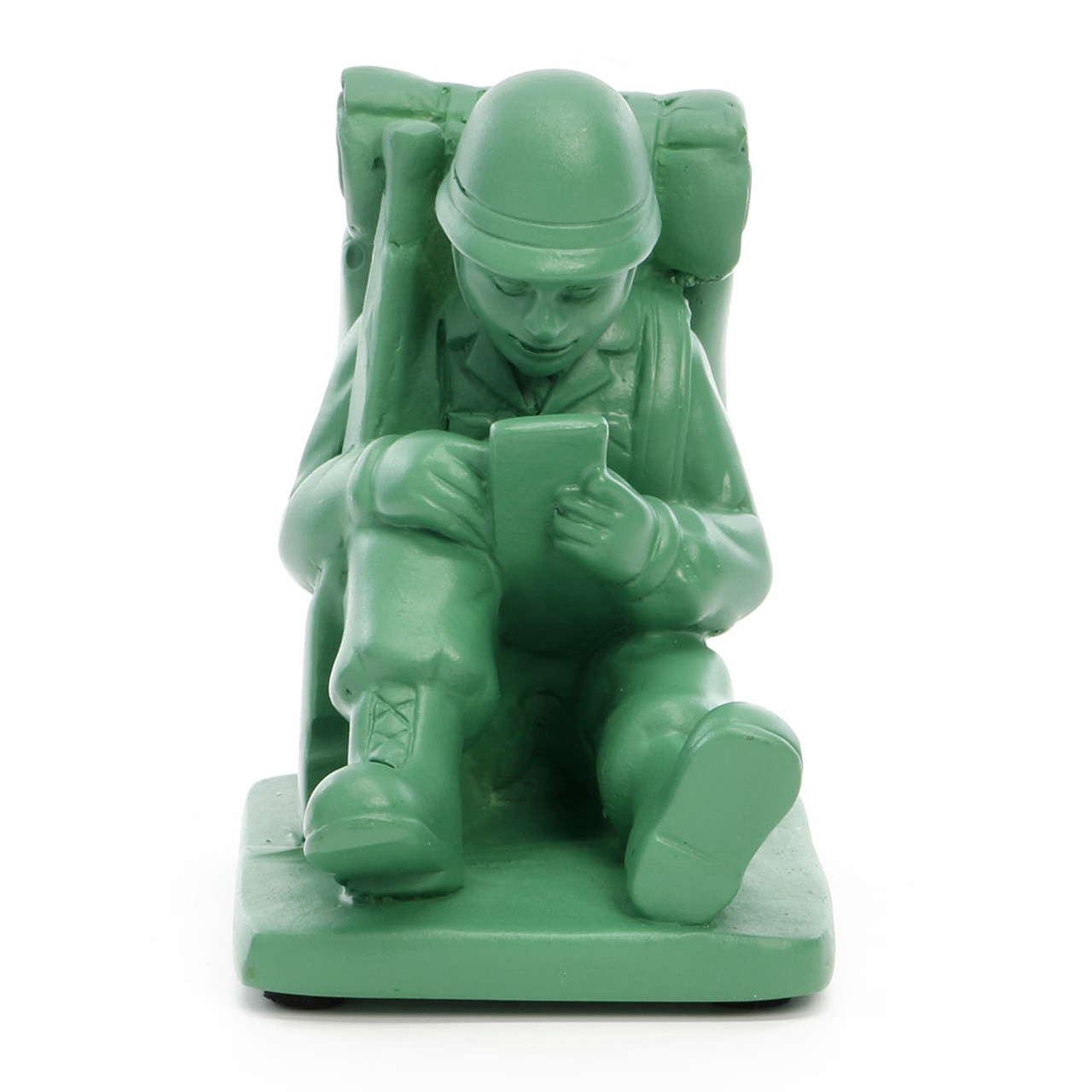 Seto Craft Motif Hand Painting Cellphone / Mobile Device Stand - Mini Soldier ( Front View )