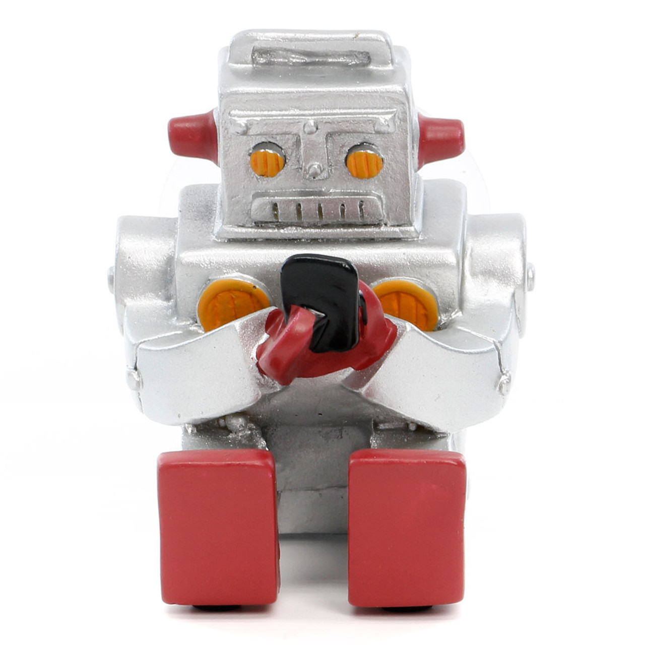 Seto Craft Motif Hand Painting Cellphone / Mobile Device Stand - Mini Robot ( Front View )