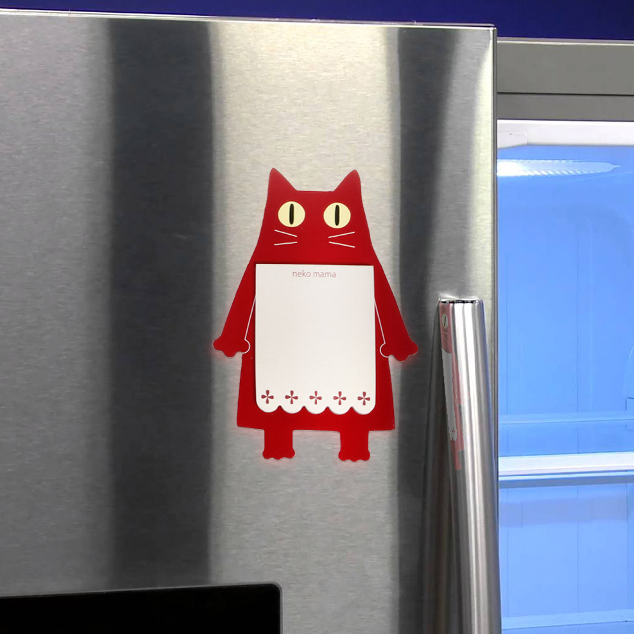 Noafamily Nekomama Red Cat Magnet Memo Pad 48 sheets ( Feature 01 )