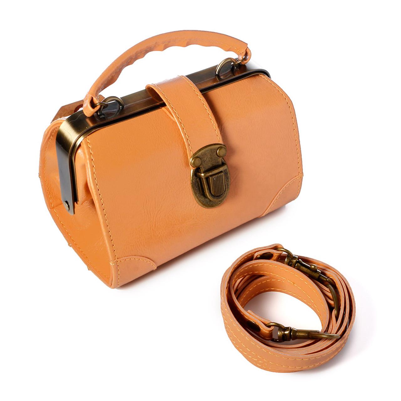 Seto Craft Motif Mini Doctor Bag Shape Pouch / Cosmetic Bag - Camel Color ( Feature 01 )