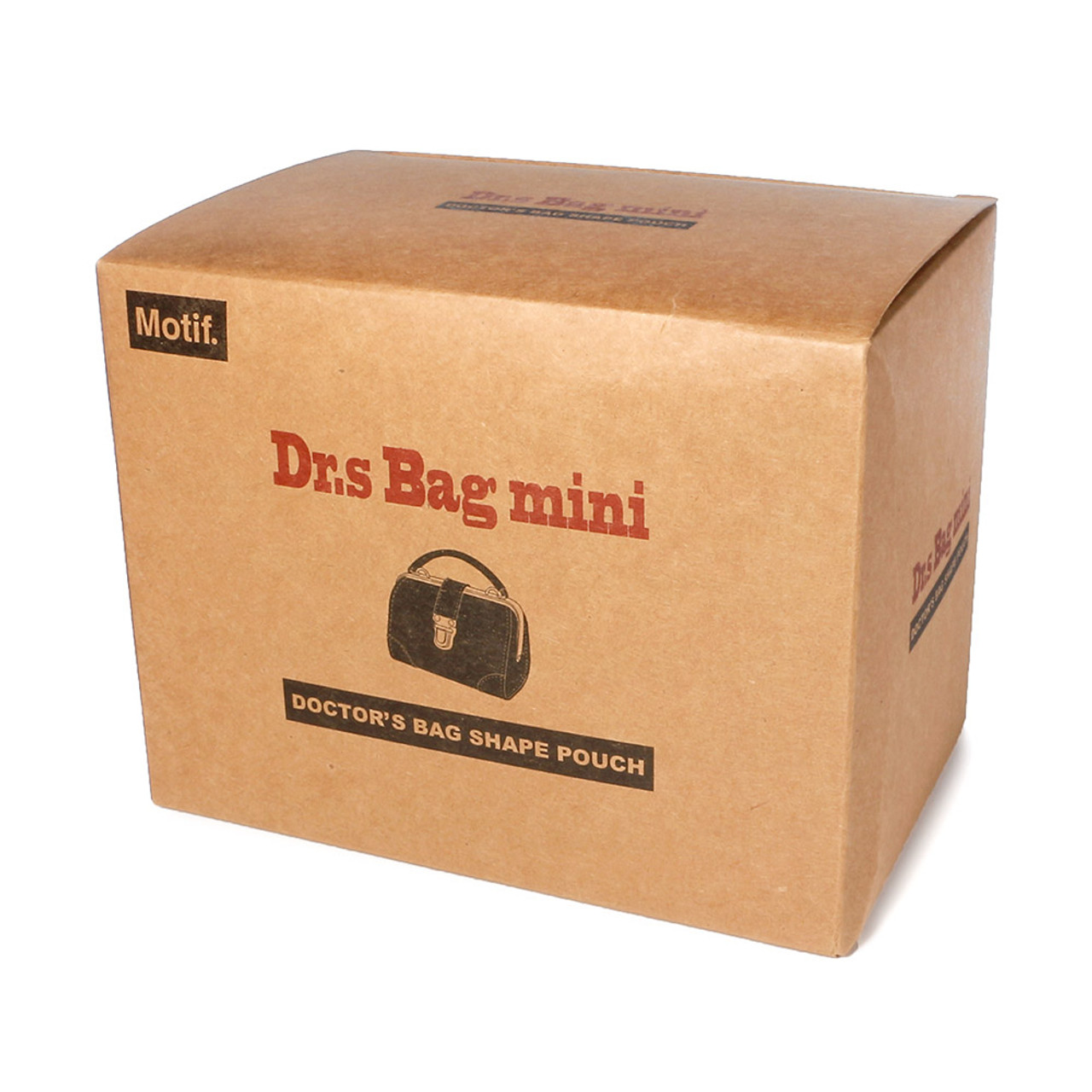 Seto Craft Motif Mini Doctor Bag Shape Pouch / Cosmetic Bag - Brown Color ( Complete Packing )