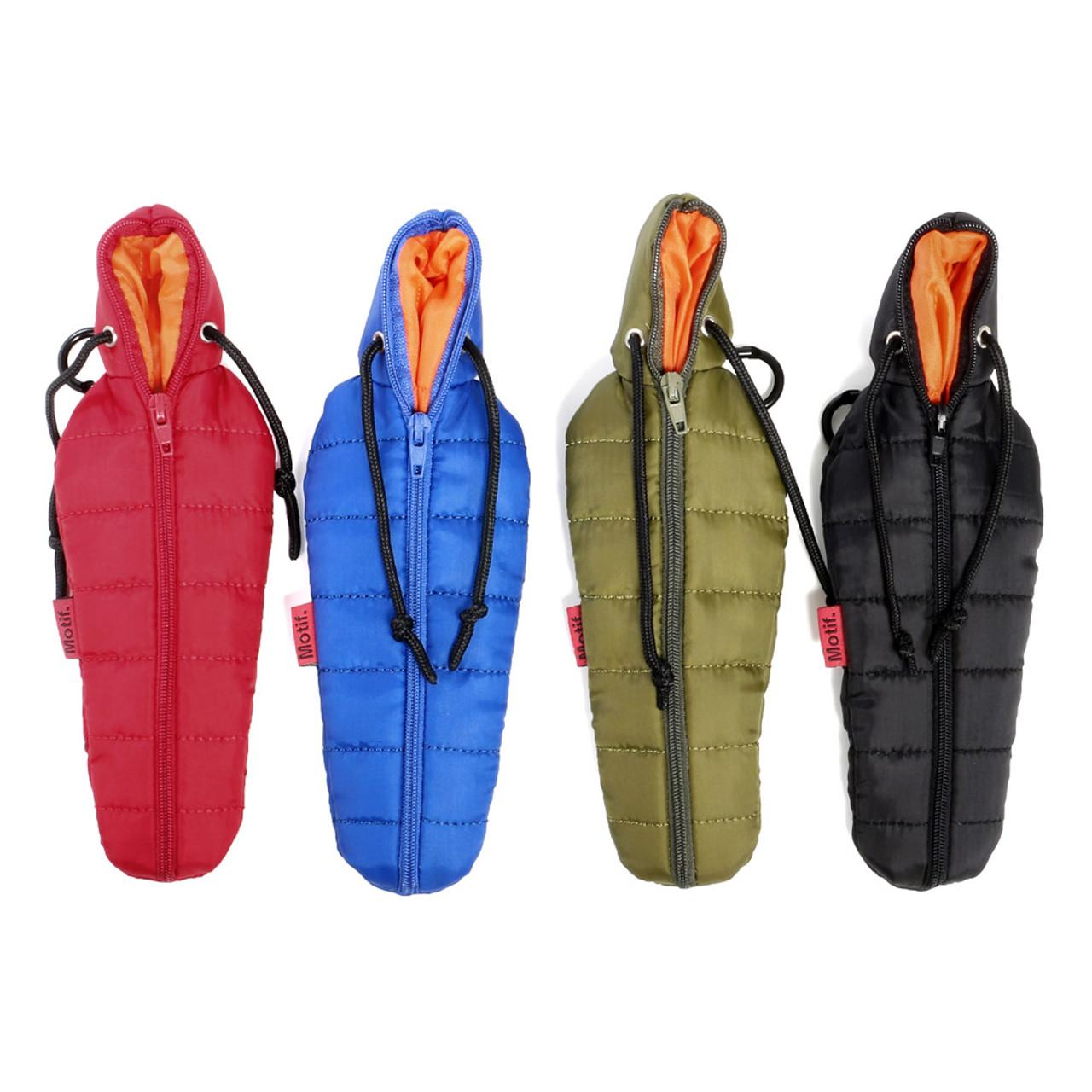 Seto Craft Motif Outdoor Sleeping Bag Pen Case - Black
