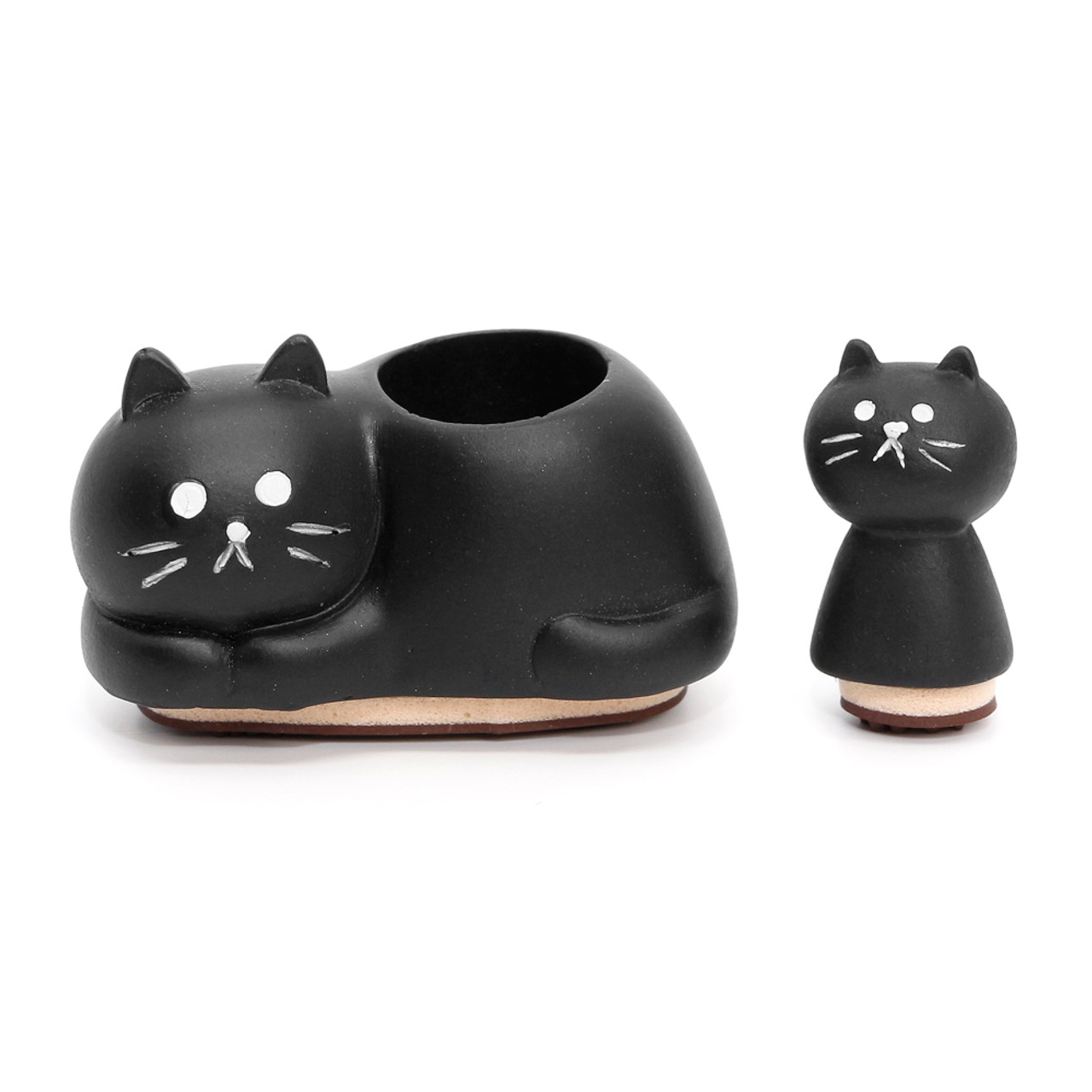 Decole Brand Kawaii Cat 2 in 1 Style Decorative Polyresin Stamps - Parent and Child ( Feature 01 )