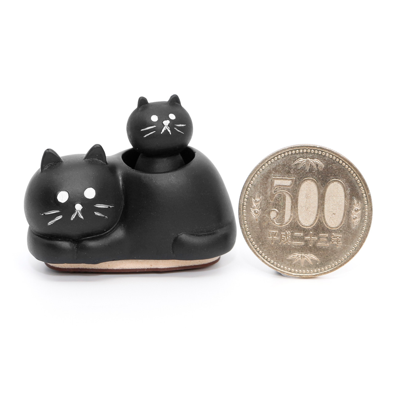 Decole Brand Kawaii Cat 2 in 1 Style Decorative Polyresin Stamps - Parent and Child ( Proportion )