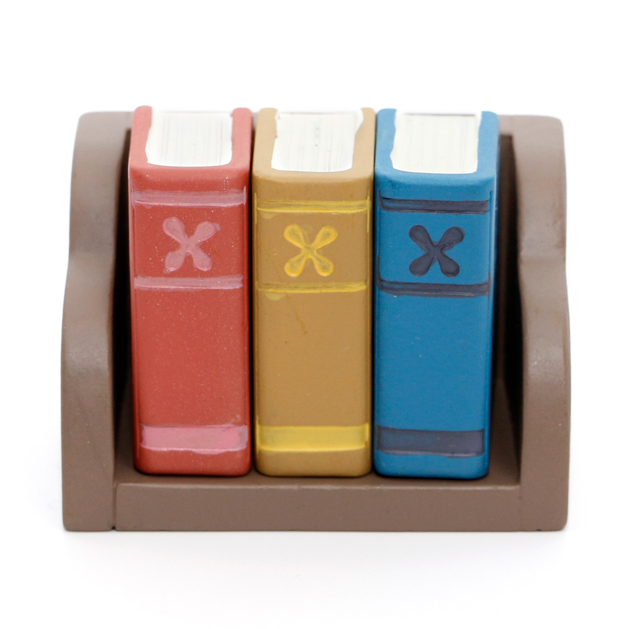Decole Brand Kawaii 3 in 1 Style Decorative Polyresin Stamps - Bookshelf ( Front View )