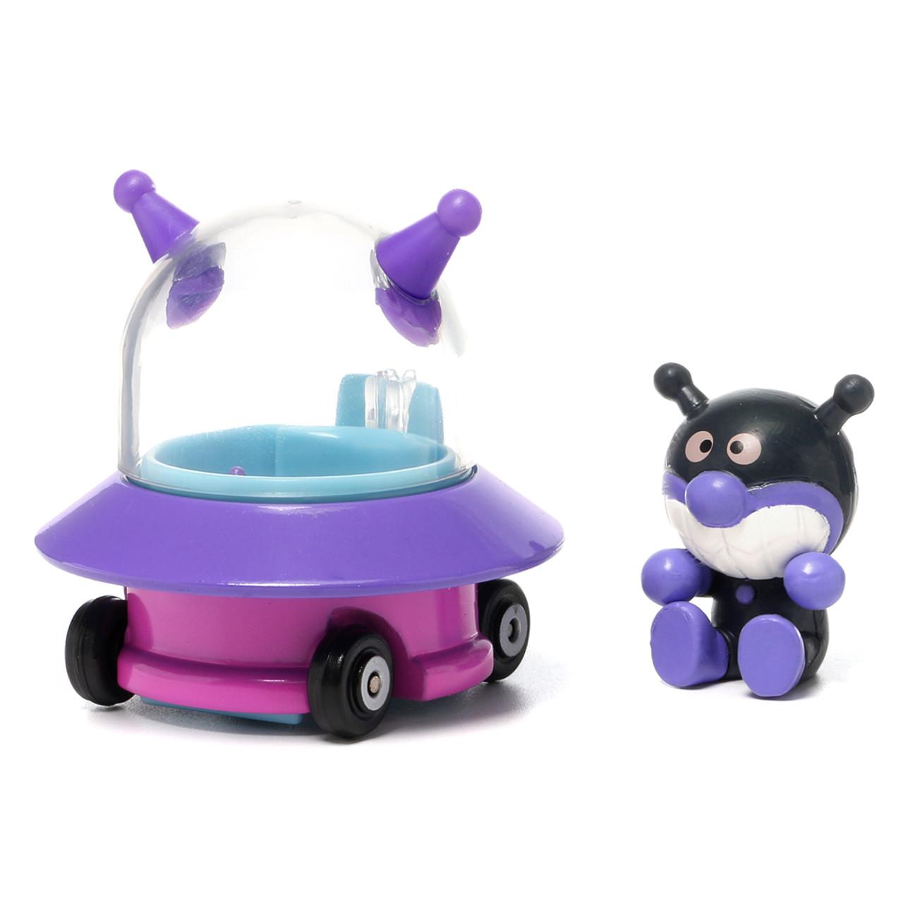 Sega Toys Anpanman Museum Go Go Mini Vehicle Carry Hero - Baikinman Germ UFO car ( Baikinman Germ Front )