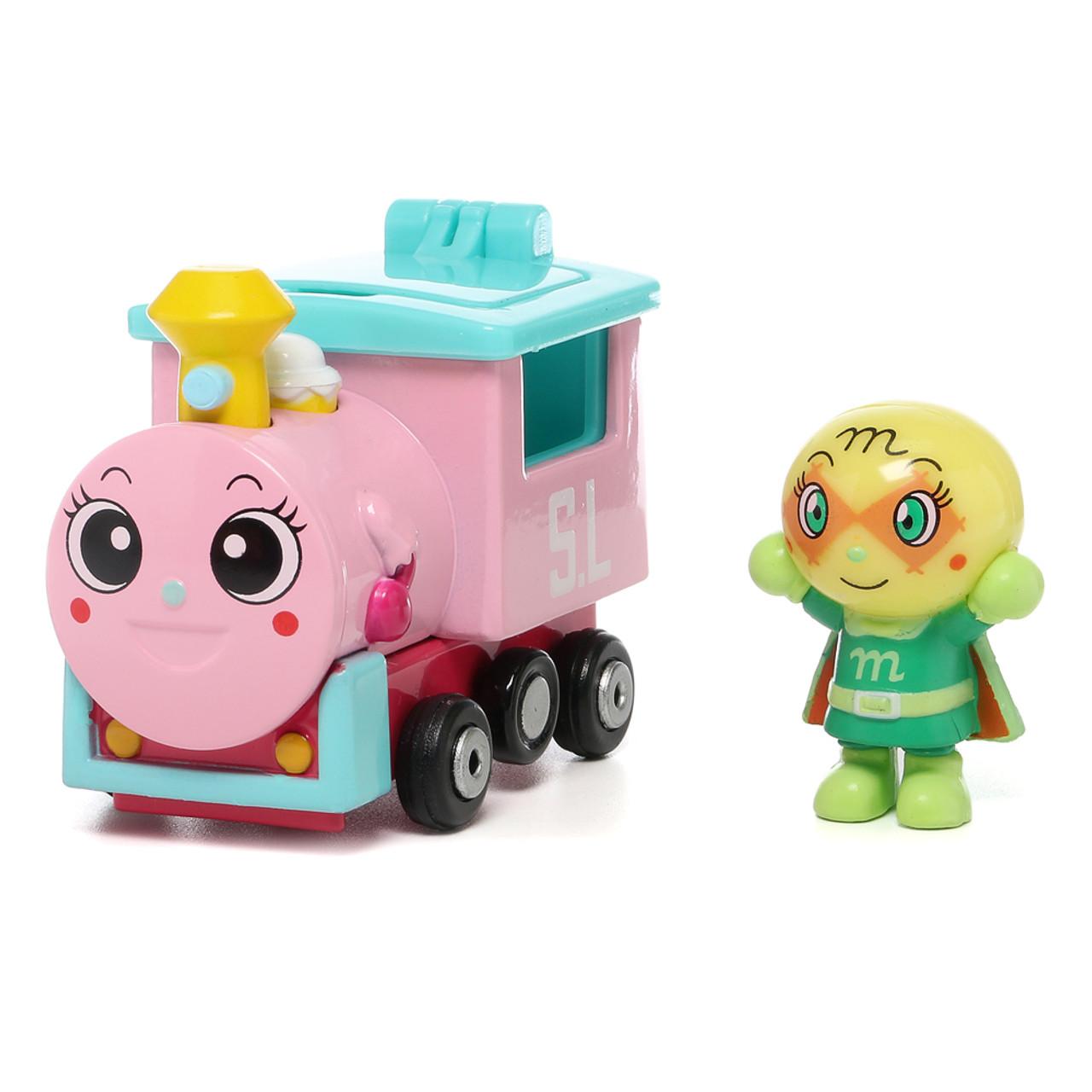 Sega Toys Anpanman Museum Go Go Mini Vehicle Carry Hero - Melonpanna Poppo train ( Melonpanna Poppo Front )