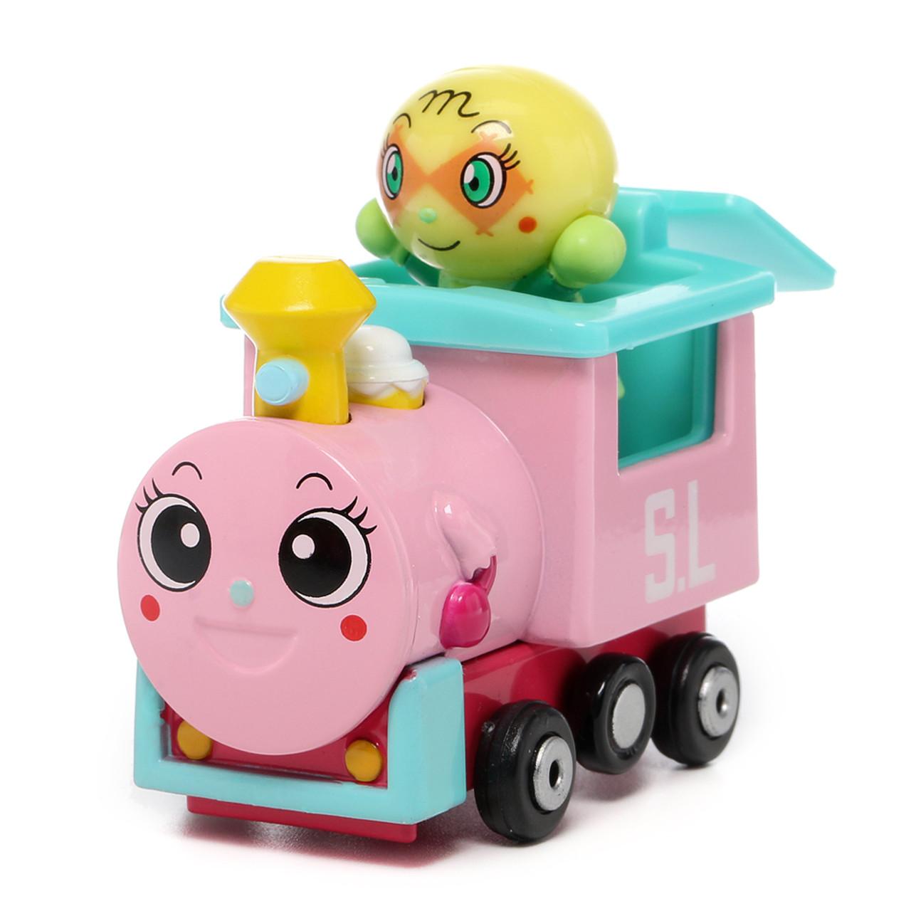 Sega Toys Anpanman Museum Go Go Mini Vehicle Carry Hero - Melonpanna Poppo train ( Front View )