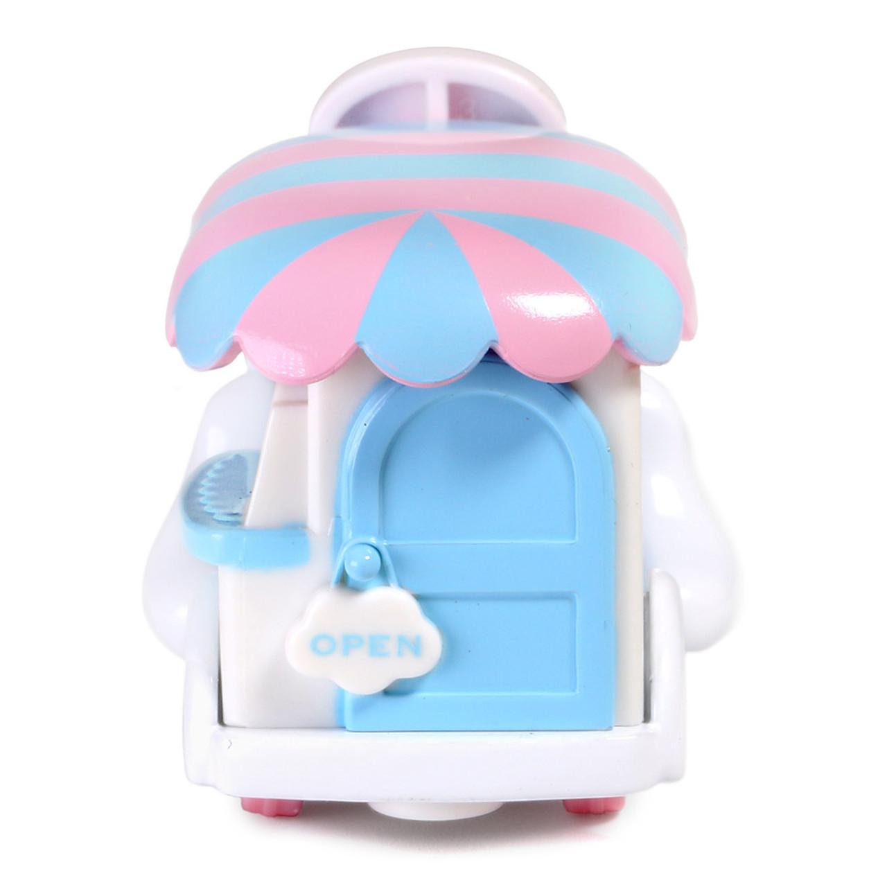 Tomica Sanrio Cinnamoroll Big Ears Dog Mini Food Truck Toy Car ( Back View )