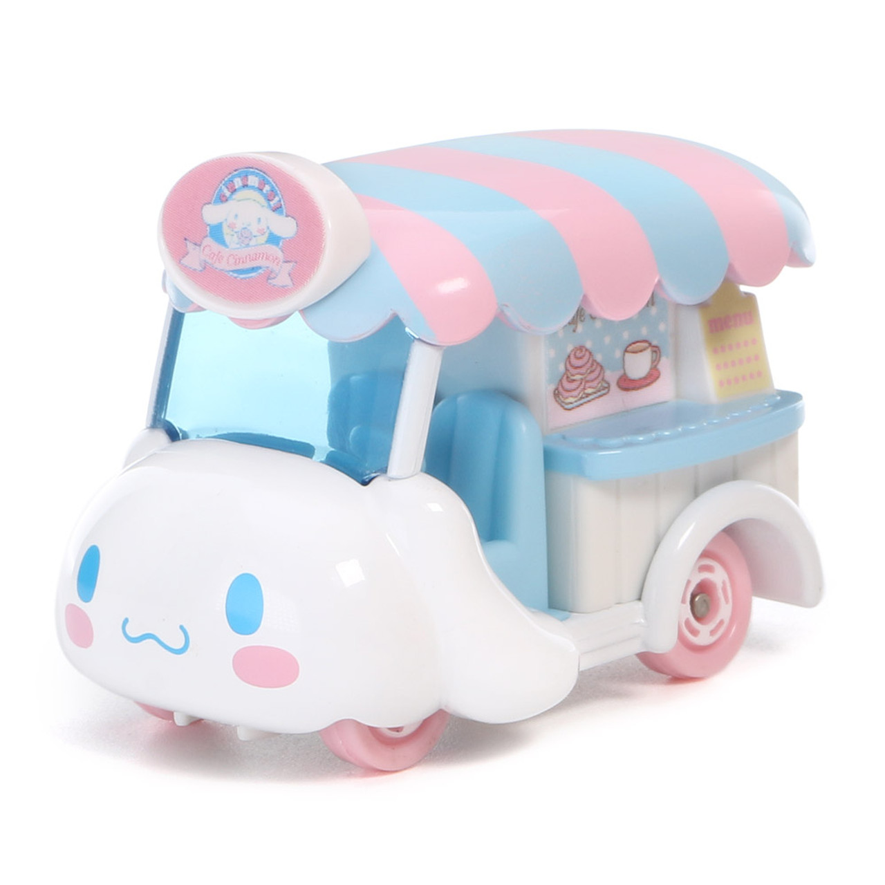 Tomica Sanrio Cinnamoroll Big Ears Dog Mini Food Truck Toy Car ( 45 Degree Angle )