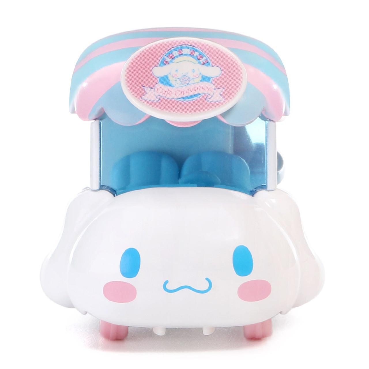 Tomica Sanrio Cinnamoroll Big Ears Dog Mini Food Truck Toy Car ( Front View )