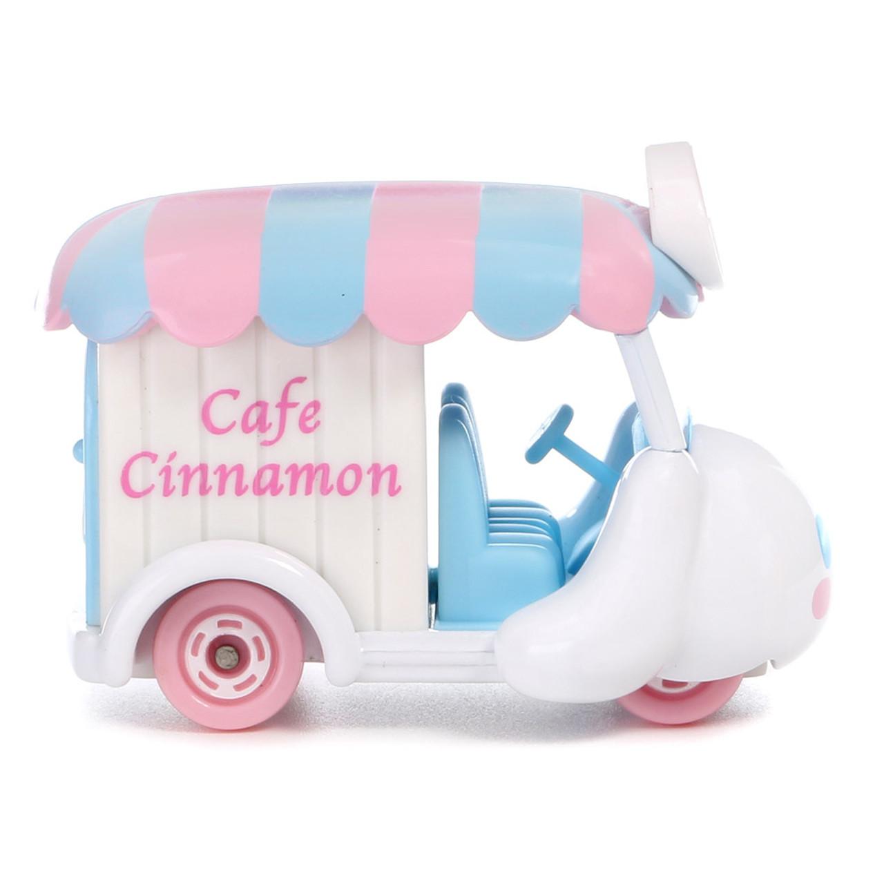 Tomica Sanrio Cinnamoroll Big Ears Dog Mini Food Truck Toy Car ( Side View 01 )