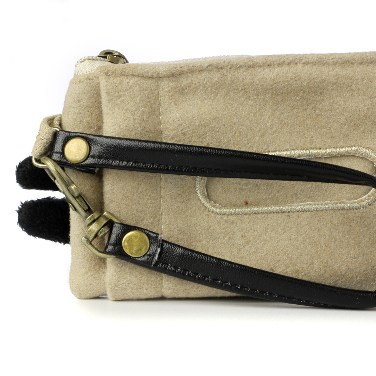 Decole Miranda Black Cat Coins And Smart Card Pouch With Purse Strap ( Feature 02 )