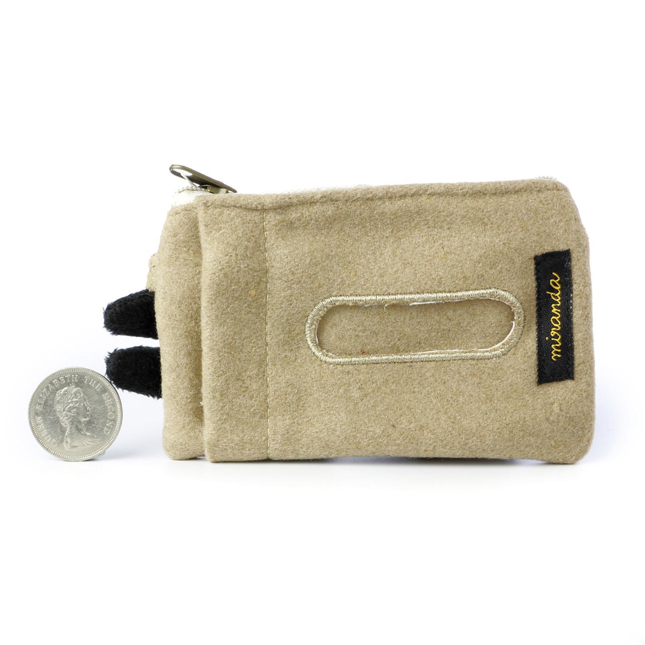 Decole Miranda Black Cat Coins And Smart Card Pouch With Purse Strap ( Back View )