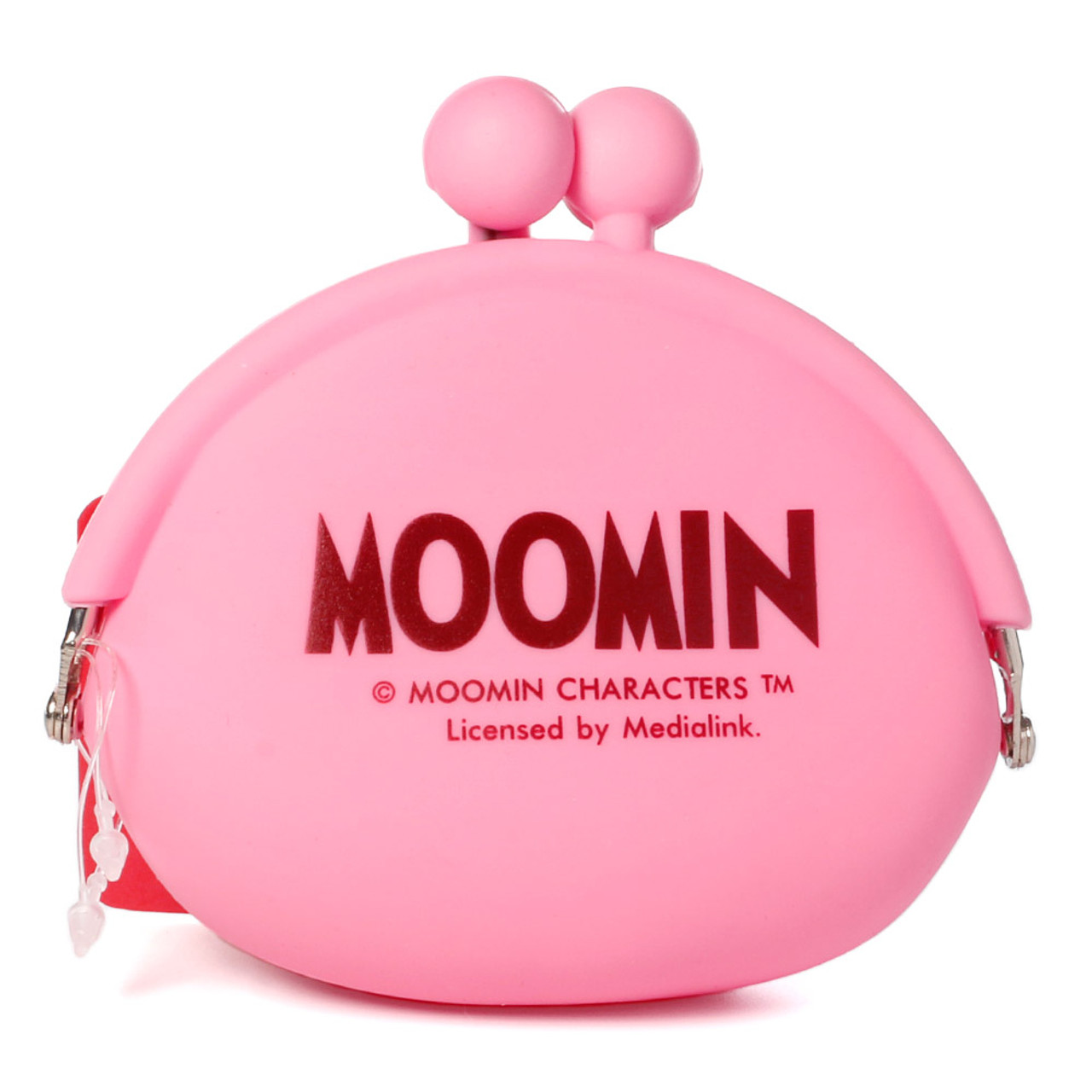 """Moomin Valley """" Little My """" Pink Silicone Ball Clasp Frame Coins Wallet ( Back View )"""