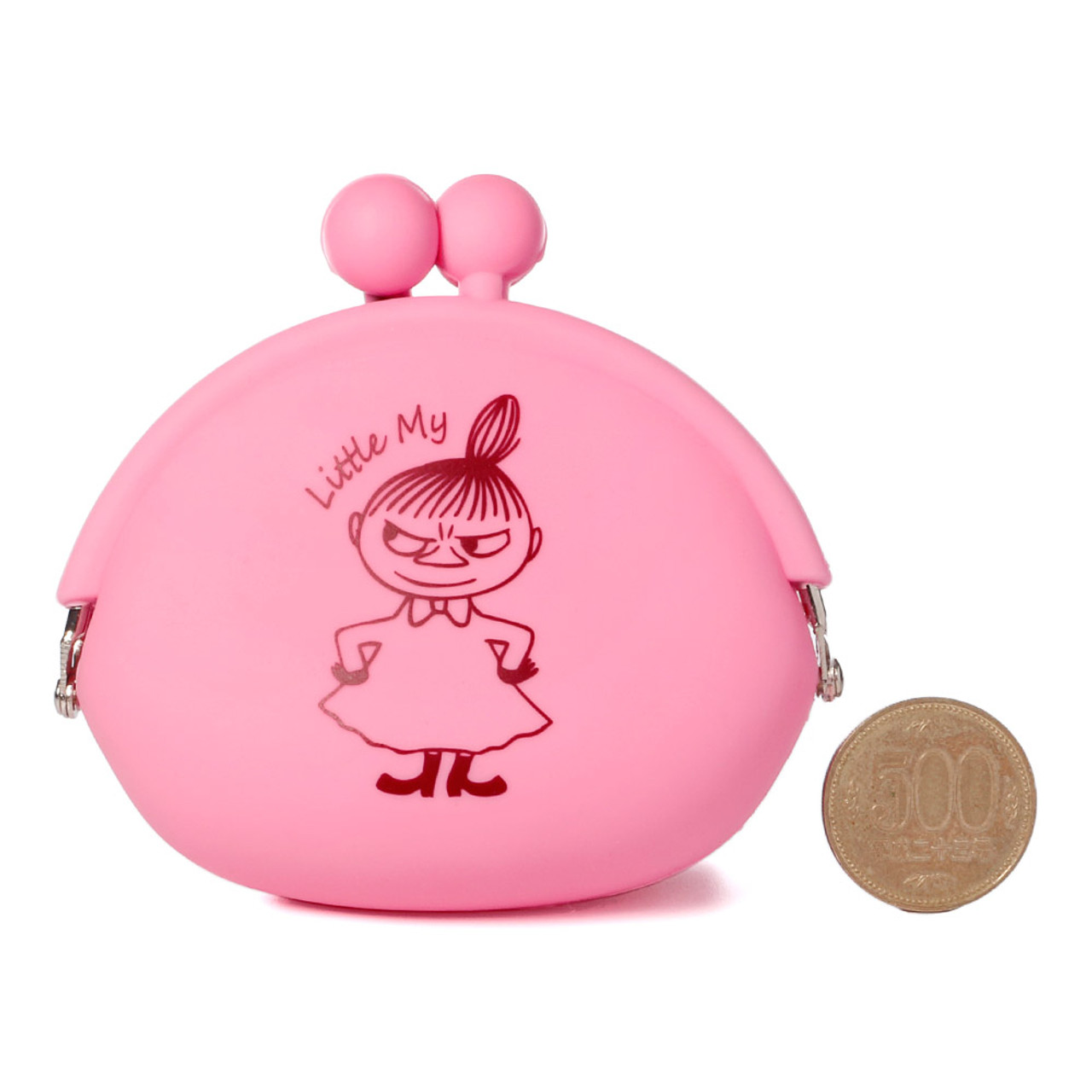 """Moomin Valley """" Little My """" Pink Silicone Ball Clasp Frame Coins Wallet ( Proportion )"""