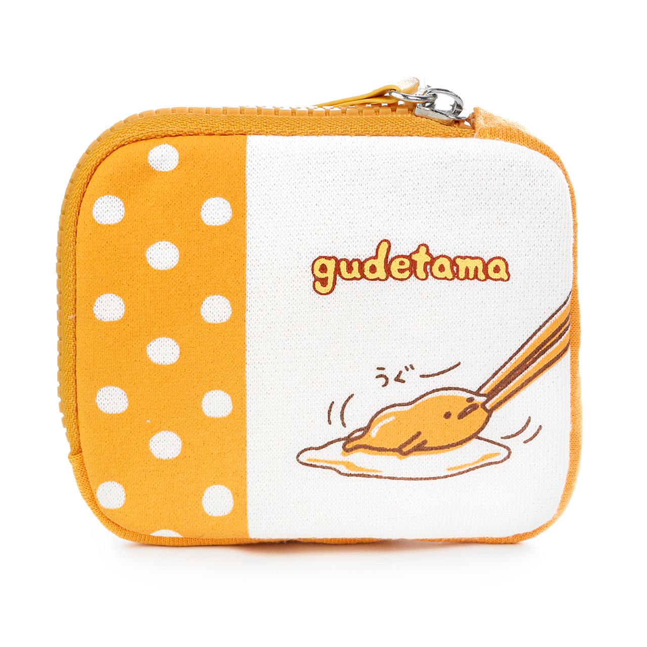 Sanrio Gudetama Lazy Egg Tough Canvas Fabric Coins Wallet ( Back View )