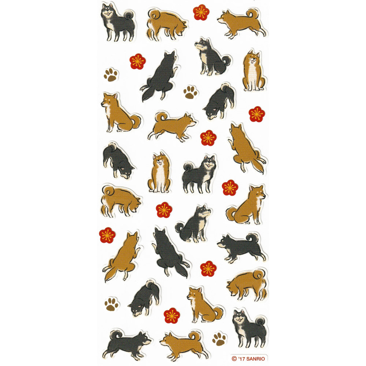 Sanrio Super Cute Shiba Inu Dog New Year's greetings Sticker Sheet ( Feature 02 )
