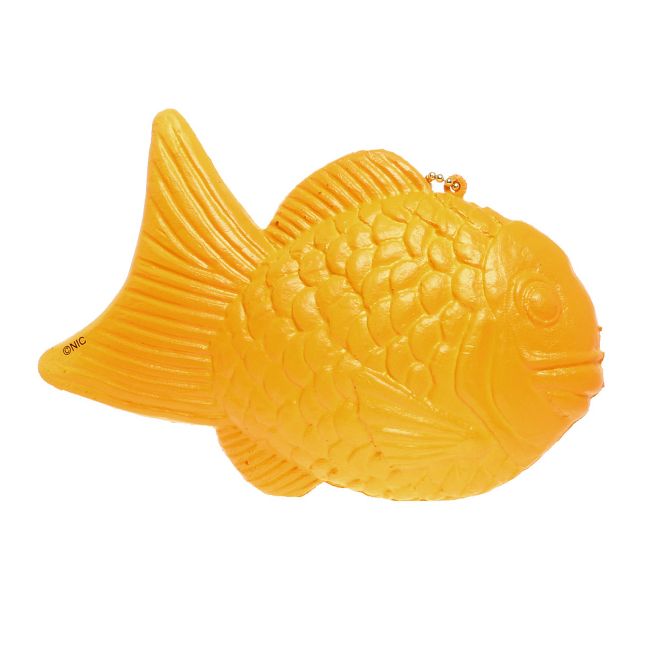 """NIC """"Cook To Order"""" Taiyaki Fish-Shaped Cake Bean Paste Taste Squishy Toy Charms  ( Back View )"""