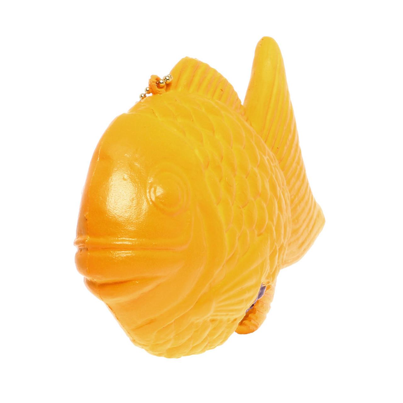 NIC Taiyaki Fish Shaped Cake Squishy Toy Charm ( Side View )